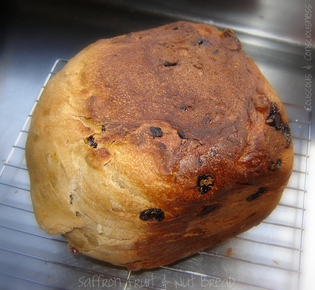 Saffron Fruit-and-Nut Bread