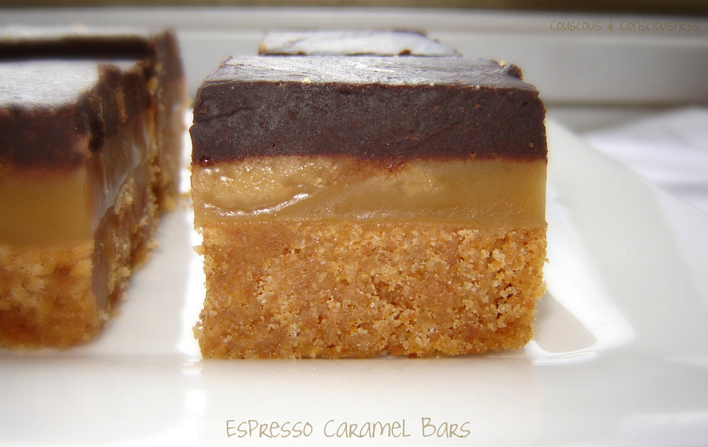 "Espresso Caramel Bars & a ""Clayton's"" Post"