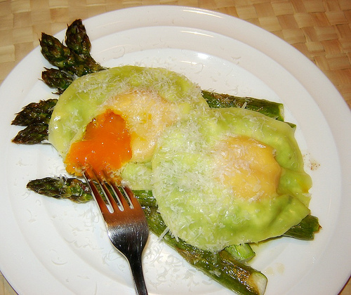 Creamy Pea & Egg Ravioli with Asparagus - Quick & Easy # 4