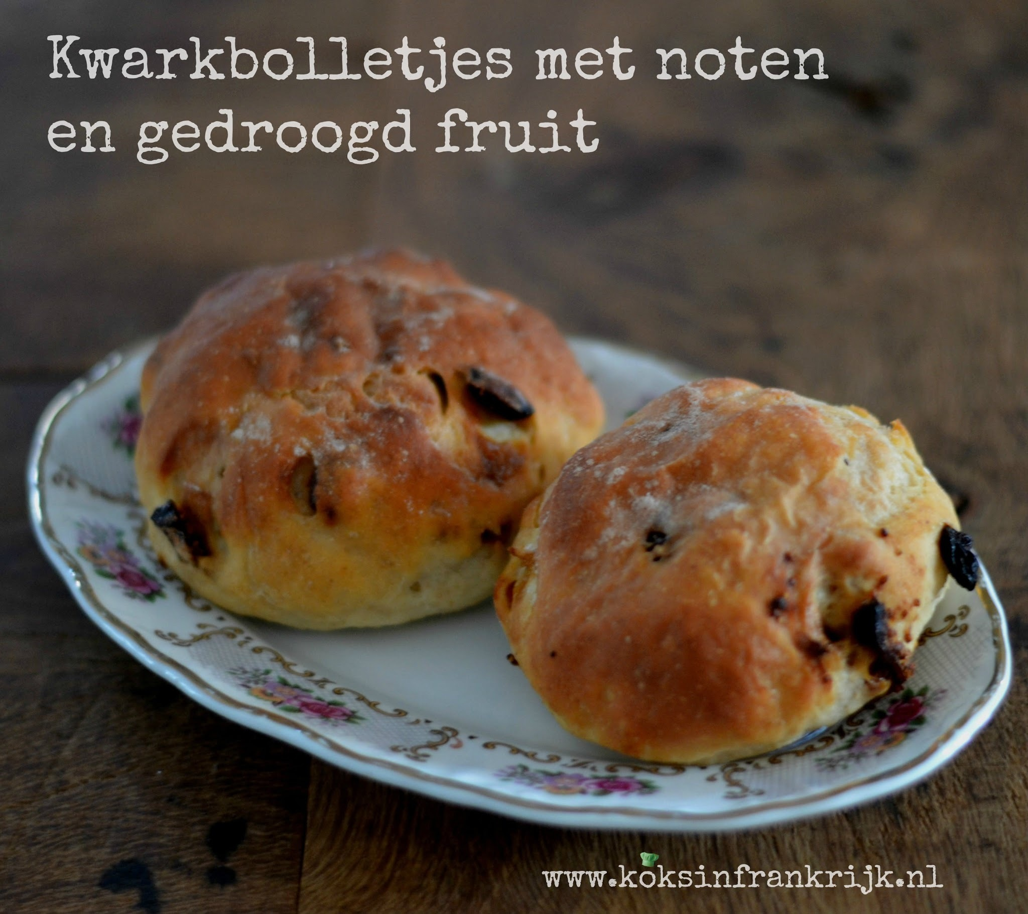 Kwarkbolletjes met noten en fruit