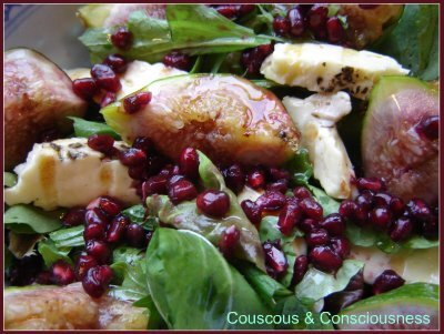 Grilled Fig, Haloumi & Pomegranate Salad