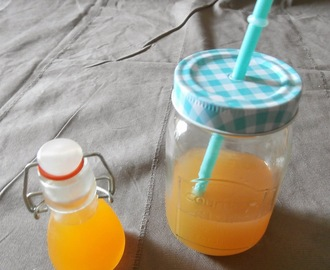 Sirop de pêches maison (Home made peach syrup)