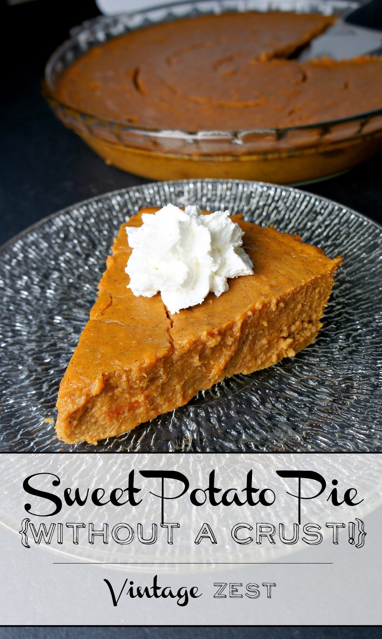 Easy Sweet Potato Pie (without a crust!)