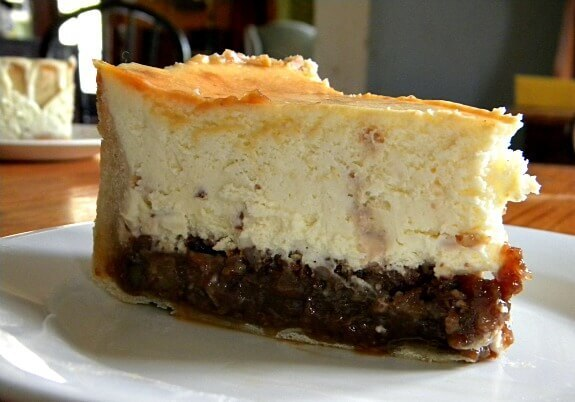 Holiday Hot Buttered Rum Pecan Pie Cheesecake…with Toffee