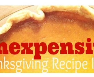 Inexpensive Thanksgiving Recipe Ideas