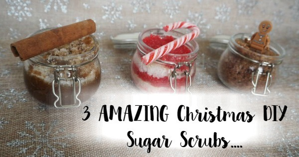 3 AMAZING Christmas DIY Sugar Scrubs….