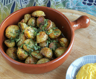 Black Pepper Potatoes (Bengali Aloo) with Lemon Turmeric Aioli