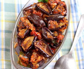 Achari Baingan Recipe, How to make Baingan Achari Pickled Aubergine
