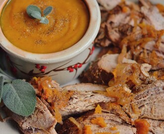 Fall Pork and Butternut Squash Double Crockpot Meal