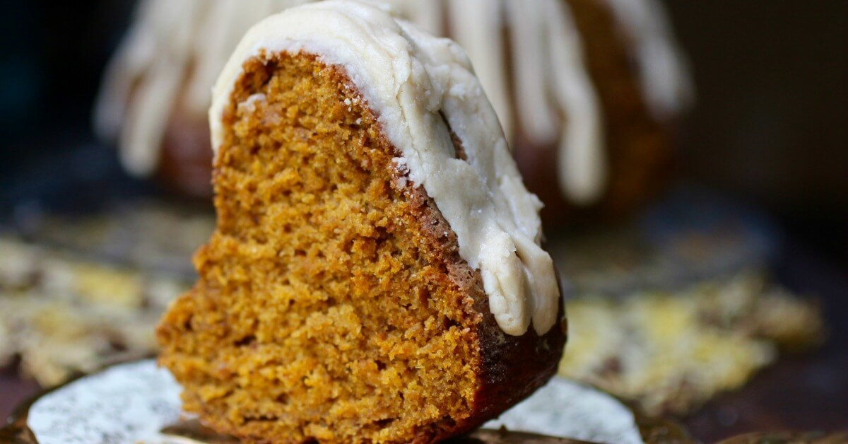 Pumpkin Bundt Cake Recipe with Brown Butter Glaze