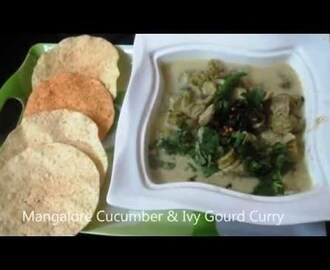 Mangalore Cucumber - Ivy Gourd Curry