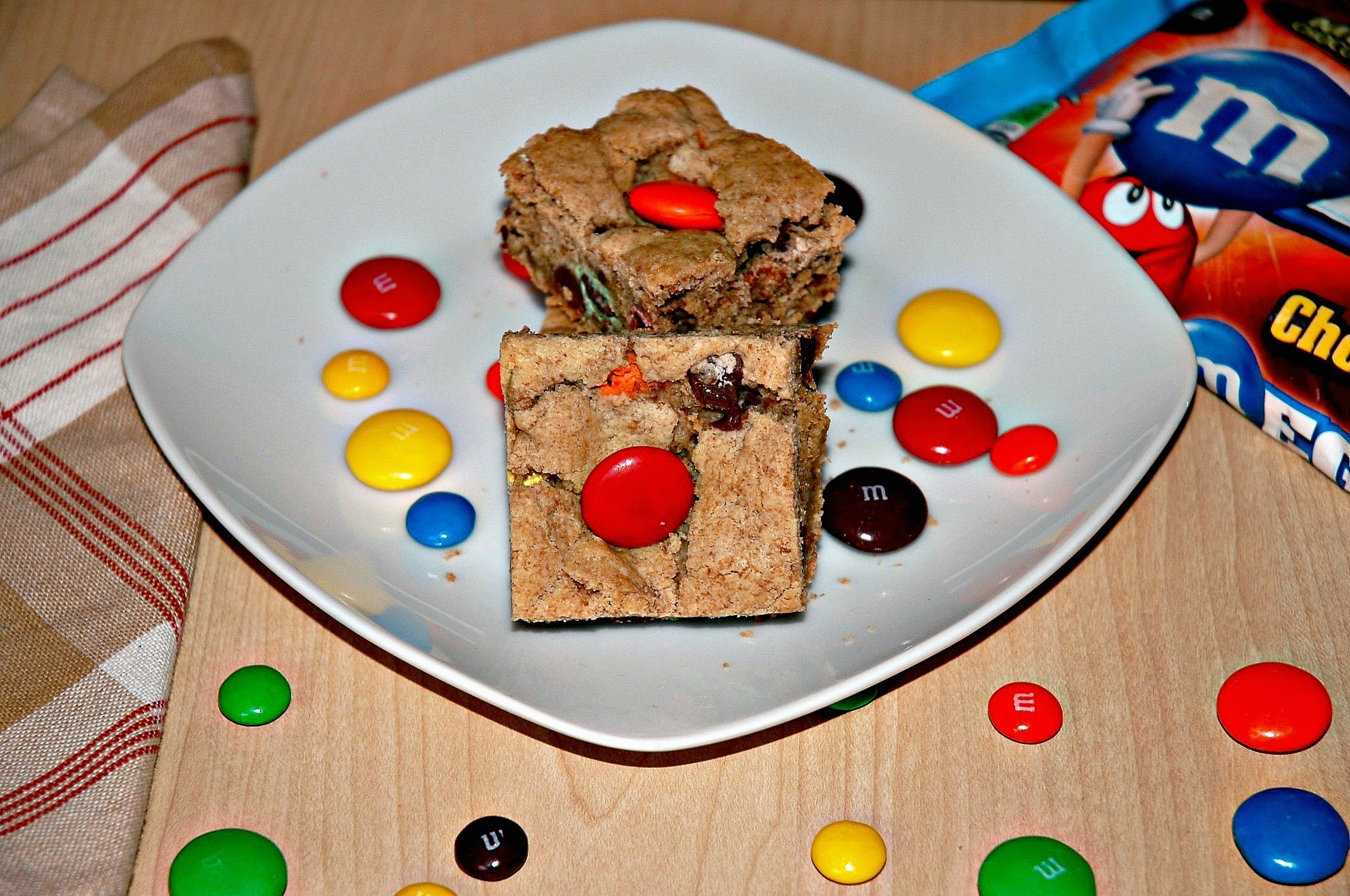 Mega M and M Blondies