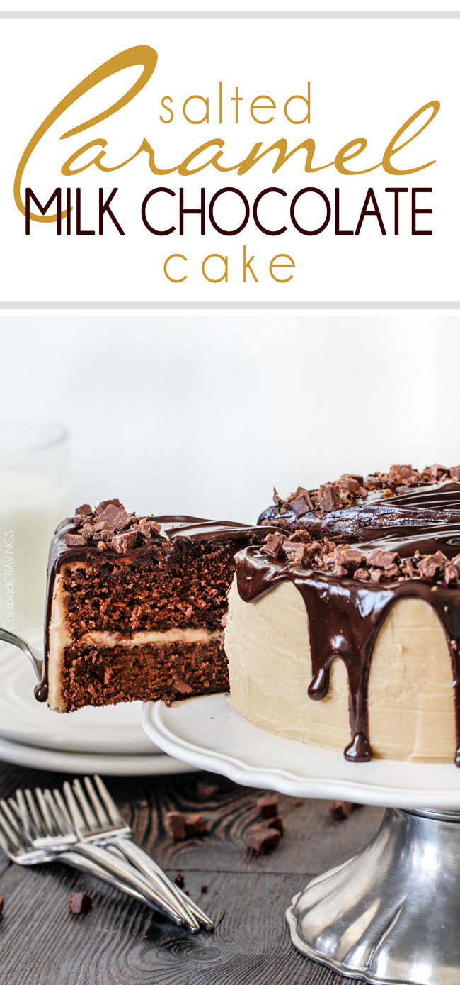 Salted Caramel Milk Chocolate Cake