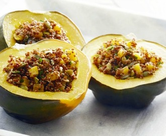 Amaranth Stuffed Acorn Squash -- A Vegan, Gluten-free Thanksgiving Entree