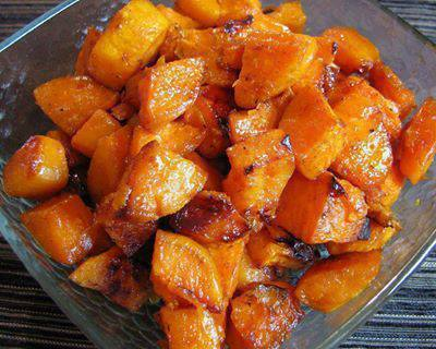 Sweet Potato Roasted in Honey