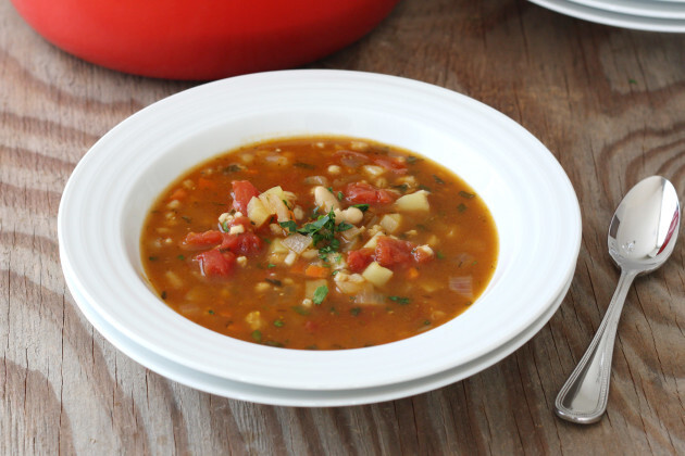 Vegetable Barley Soup & KitchenIQ Giveaway!
