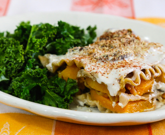 Roasted Sweet Potato and Mushroom Lasagna
