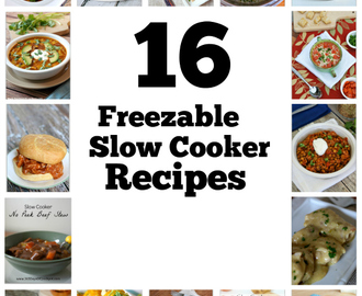 16 Freezable Slow Cooker Dinners (with instructions to make ahead, freeze, and then cook)