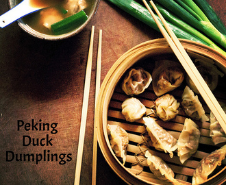Peking Duck Dumplings Two Ways