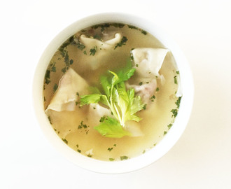 'Leftover' Turkey Wonton Soup