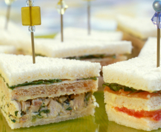 Chicken and rocket club sandwiches