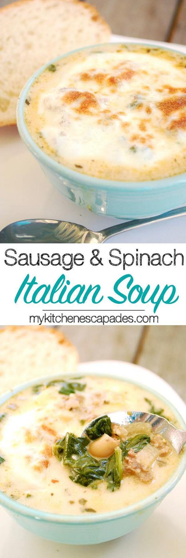 Sausage and Spinach Italian Soup
