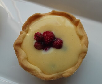 Wild Strawberry and Passionfruit Curd Tarts