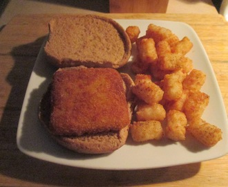 Fish Sandwich w/ Baked Tater Tots