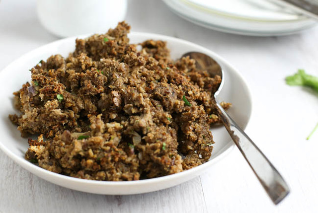 Mushroom and chestnut vegetarian stuffing