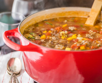 Copycat Carrabba's Sausage and Lentil Soup