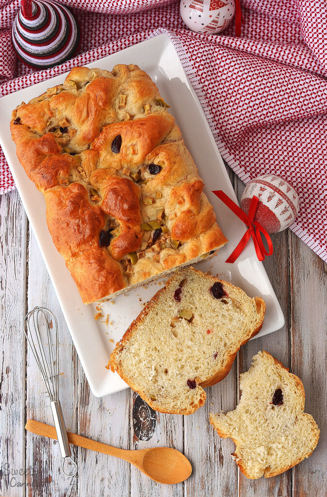 Cranberry, Apple and Cinnamon Bread – Pan de Arándano, Manzana y Canela