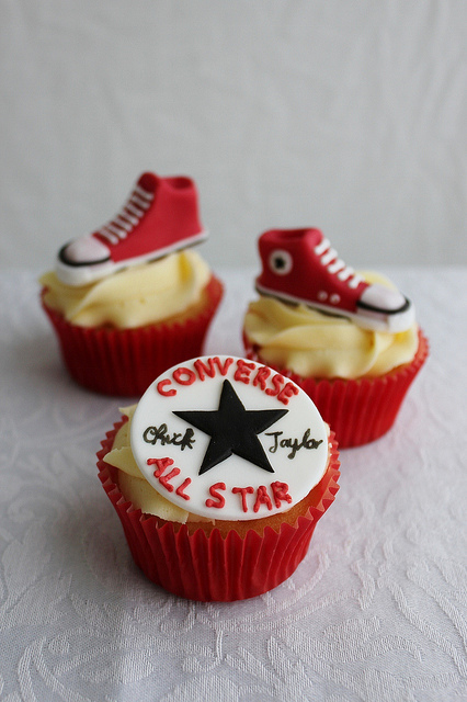 Nike, Converse and Adidas Shoe Cupcakes