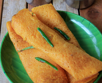 Carrot dosa - No ferment Vegetable dosa - Healthy dosa - Breakfast, dinner recipe