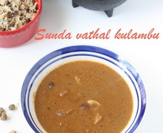 Vatha Kuzhambu | Sunda Vathal Kulambu | Dried Turkey Berries Curry