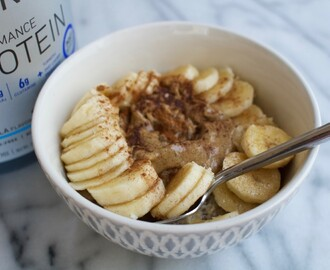 Banana and Peanut Butter Oatmeal for Workout Recovery [Gluten Free, Vegan] + An Injury Update