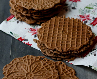 Chocolate Hazelnut Pizzelle
