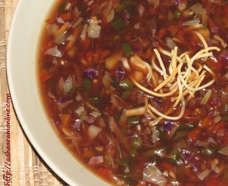 Vegetable Manchow Soup – An Indo-Chinese Favourite