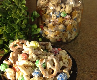 Sweet and Salty White Chocolate Snack Mix