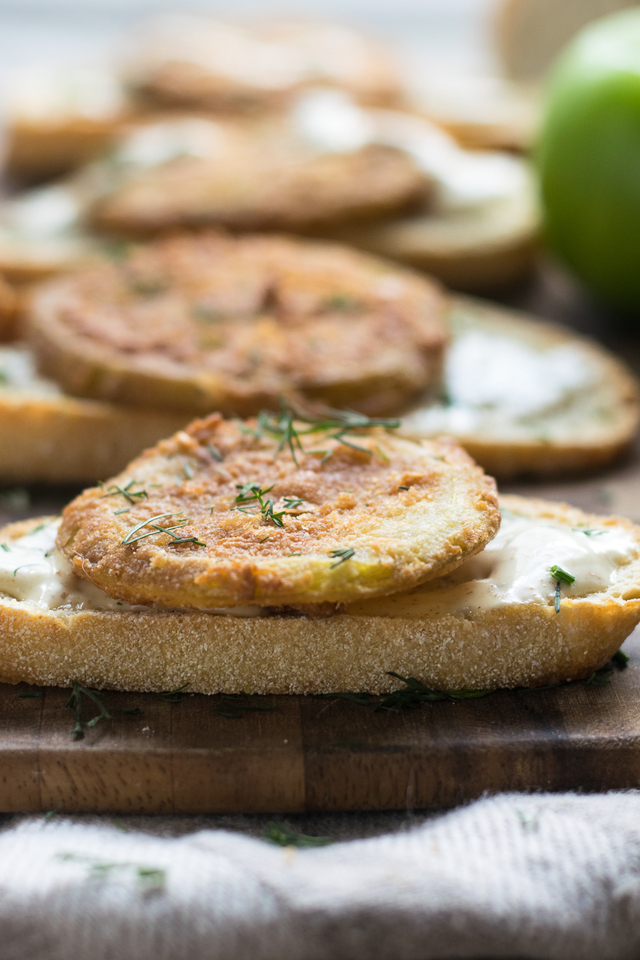 Southern Fried Green Tomato Crostini
