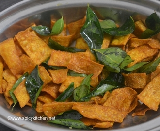 Yam fry recipe | chena chips | how to make crispy yam chips