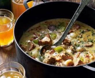 PORK AND CIDER CASSEROLE WITH MUSTARD AND SAGE