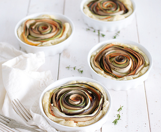Vegan Spiral Vegetable Tarts