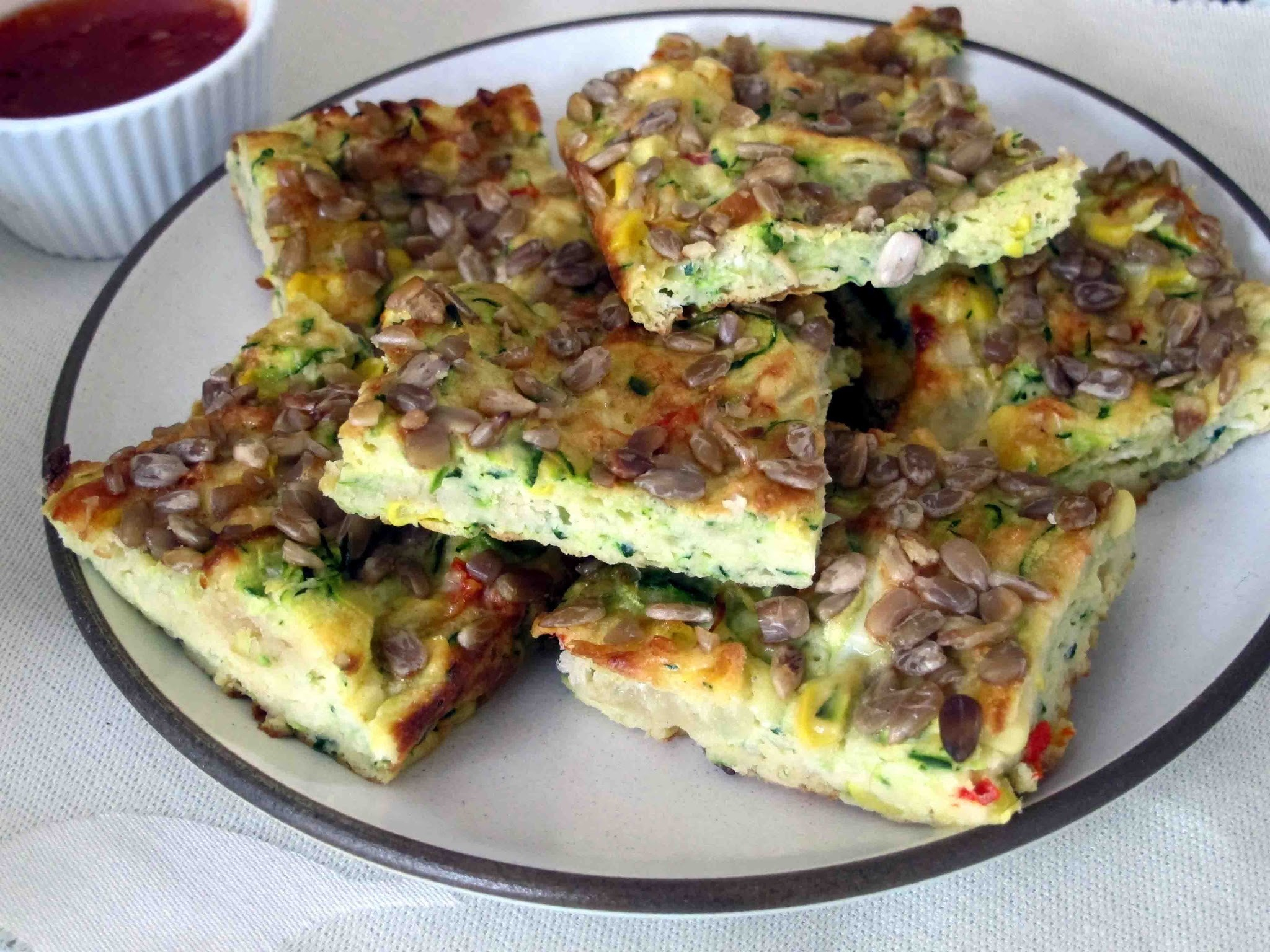 Vegetarian Zucchini and Corn Slice