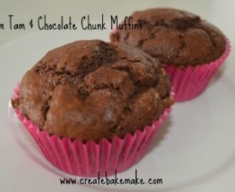 Tim Tam and Chocolate Chunk Muffins