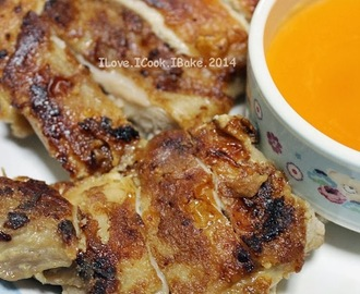 Pan Fried Chicken Chop With Lemon Sauce & ABC  Soup