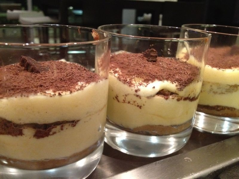Individual Tiramisu cups made with Atomic Cold Brew