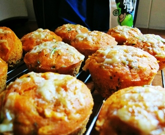 Zucchini & Tomato Cheesy Muffins! Big Batch! Lunchbox Idea!