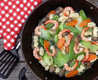 Stir Fried Seafood and Vegetables