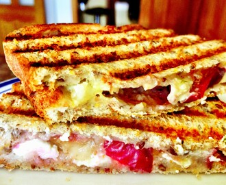 Plum and Brie Toasted Sandwich