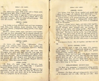 ※ Miss Tuxford's Cookery for The Middle Class (Breads and Cakes Part 2)